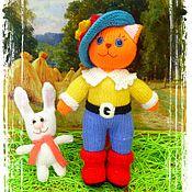 Куклы и игрушки ручной работы. Ярмарка Мастеров - ручная работа Кот в сапогах. вязаная игрушка. Handmade.