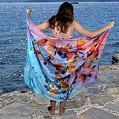 Одежда handmade. Livemaster - original item Pareo silk batik dawn. Handmade.