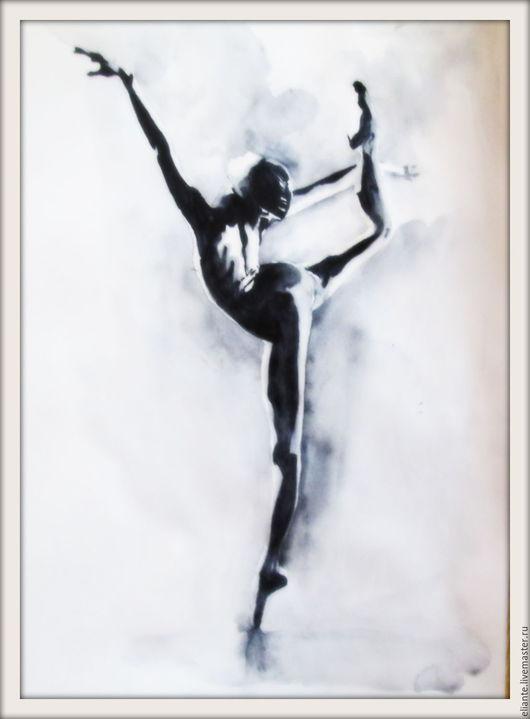 Ню ручной работы. Ярмарка Мастеров - ручная работа. Купить картина 7 Балет- любовь моя. Handmade. Чёрно-белый
