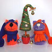 Куклы и игрушки ручной работы. Ярмарка Мастеров - ручная работа Коты Роки и Фоки (Вязаная игрушка, подарок, Новый год). Handmade.