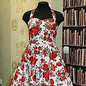 """Платья ручной работы. Ярмарка Мастеров - ручная работа Платье в ретро стиле """"Красная роза/Rose Red"""". Handmade."""