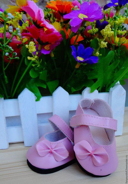 Куклы и игрушки ручной работы. Ярмарка Мастеров - ручная работа. Купить Туфли для кукол розовые, 7см. Handmade. Розовый