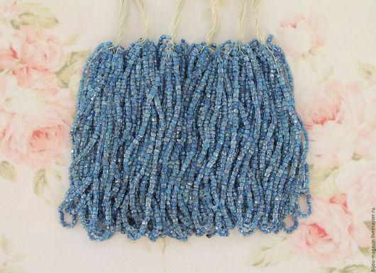 Для украшений ручной работы. Ярмарка Мастеров - ручная работа. Купить Винтажный бисер фасетной огранки,цвет голландский голубой. Handmade.