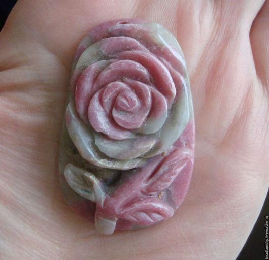 Для украшений ручной работы. Ярмарка Мастеров - ручная работа. Купить Кулон из тулита Роза. Handmade. Комбинированный, резной цветок
