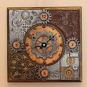 """Для дома и интерьера ручной работы. Ярмарка Мастеров - ручная работа Часы """"Изобретатель"""" в стиле стимпанк. Handmade."""