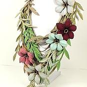 Украшения handmade. Livemaster - original item Windy Grass. necklace made of genuine leather. Handmade.