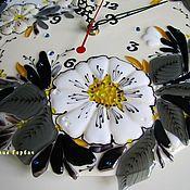 Для дома и интерьера handmade. Livemaster - original item watch glass, fusing White rose - emblem of love. Handmade.