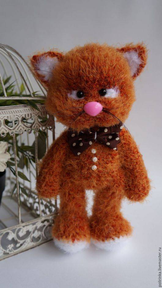 Игрушки животные, ручной работы. Ярмарка Мастеров - ручная работа. Купить Рыжий кот. Handmade. Рыжий, вязаный кот, холофайбер