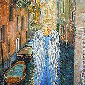 """Картины и панно ручной работы. Ярмарка Мастеров - ручная работа картина """"L` Angelo di Venezia"""" /Ангел Венеции(серия). Handmade."""