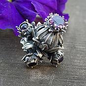 Украшения handmade. Livemaster - original item Thistle ring with natural amethysts. Handmade.