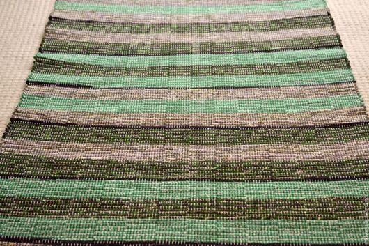 Текстиль, ковры ручной работы. Ярмарка Мастеров - ручная работа. Купить Половик ручного ткачества (№ 137). Handmade. Зеленый