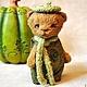 Мишки Тедди ручной работы. Ярмарка Мастеров - ручная работа. Купить Бэнни Горошек. Handmade. Желтый, тедди медведи, мишки