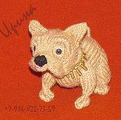 Куклы и игрушки ручной работы. Ярмарка Мастеров - ручная работа Собака бульдог вязаная. Handmade.