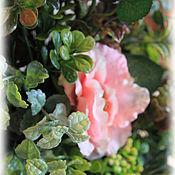 Цветы и флористика handmade. Livemaster - original item Pink rose Interior arrangement. Handmade.