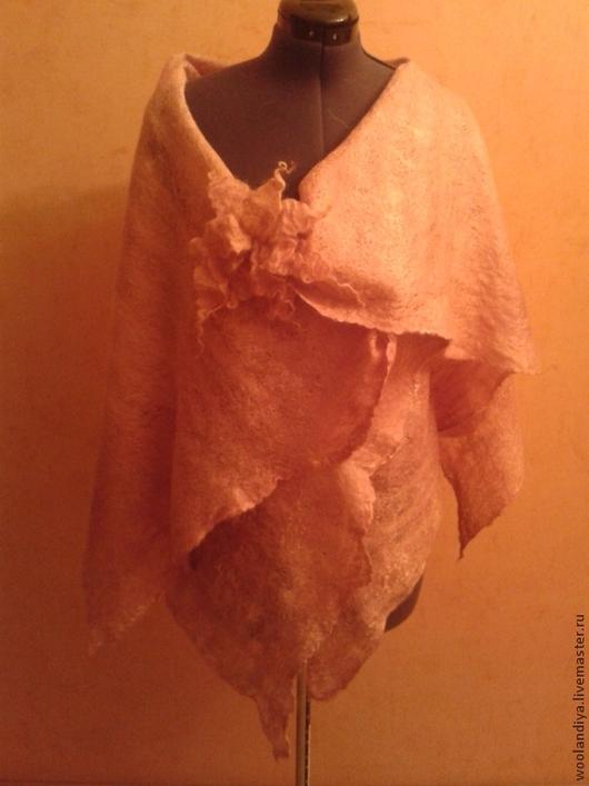 Жилеты ручной работы. Ярмарка Мастеров - ручная работа. Купить жилет-трансформер МАРЕНА. Handmade. Коралловый, валяный жилет
