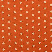 Материалы для творчества ручной работы. Ярмарка Мастеров - ручная работа Бумага крафт оранжевая в горошек. Handmade.