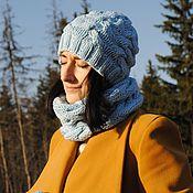 Аксессуары ручной работы. Ярмарка Мастеров - ручная работа Комплект шапка и снуд с косами. Handmade.