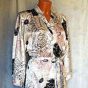Одежда ручной работы. Ярмарка Мастеров - ручная работа Шелковый халат. Handmade.