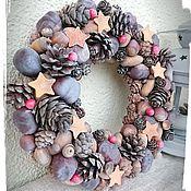 Цветы и флористика handmade. Livemaster - original item Wreath in eco-style Christmas. Handmade.