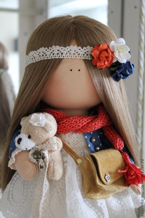 Коллекционные куклы ручной работы. Ярмарка Мастеров - ручная работа. Купить Интерьерная куколка. Handmade. Рыжий, Джинсовая ткань