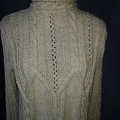 Одежда ручной работы. Ярмарка Мастеров - ручная работа Свитер светло серый. Handmade.