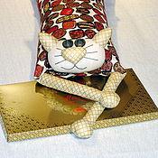 """Для дома и интерьера ручной работы. Ярмарка Мастеров - ручная работа Игрушка-подушка """"Радужный кот"""" лакомый кусочек. Handmade."""
