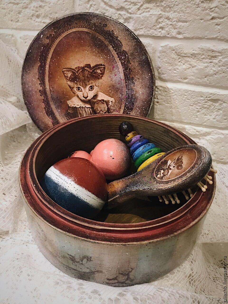 Kitty - an old box with toys (set), Box, Sergiev Posad,  Фото №1