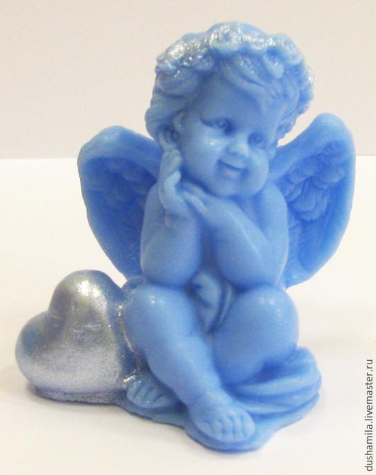 Мыло ручной работы. Ярмарка Мастеров - ручная работа. Купить Мыло Ангелочек с сердцем. Handmade. Сувенирное мыло, ангелочки