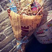 Съедобные букеты ручной работы. Ярмарка Мастеров - ручная работа Сладкий букет с пожеланиями. Handmade.