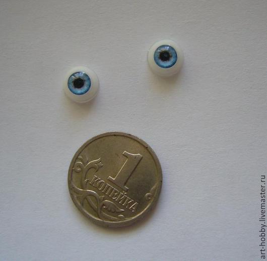 Куклы и игрушки ручной работы. Ярмарка Мастеров - ручная работа. Купить Глаза голубые 6 мм. Handmade. Голубой