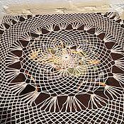 Винтаж handmade. Livemaster - original item Tablecloth -doily round -vintage. Handmade.