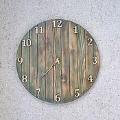 Часы классические ручной работы. Ярмарка Мастеров - ручная работа Большие часы из дерева. Handmade.
