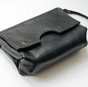 Сумки и аксессуары handmade. Livemaster - original item black handbag genuine leather. Handmade.