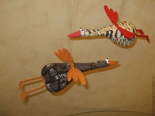 Игрушки животные, ручная работа. Улётные гуси)) Автор Шибанова Виктория. Дизайн-студия авторских игрушек `SamiSrukami`. Ярмарка Мастеров.
