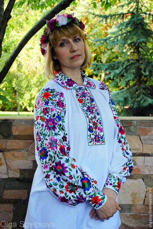 """Блузки ручной работы. Ярмарка Мастеров - ручная работа. Купить Вышитая блуза женская вышиванка """"Берегиня"""" вышивка гладью. Handmade."""