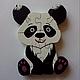 Развивающие игрушки ручной работы. Ярмарка Мастеров - ручная работа. Купить Панда пазлы дерево. Handmade. Комбинированный, пазлы из дерева