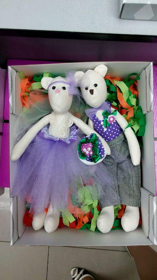 Куклы Тильды ручной работы. Ярмарка Мастеров - ручная работа. Купить Пара свадебных мишек. Handmade. Мишки, свадебный подарок
