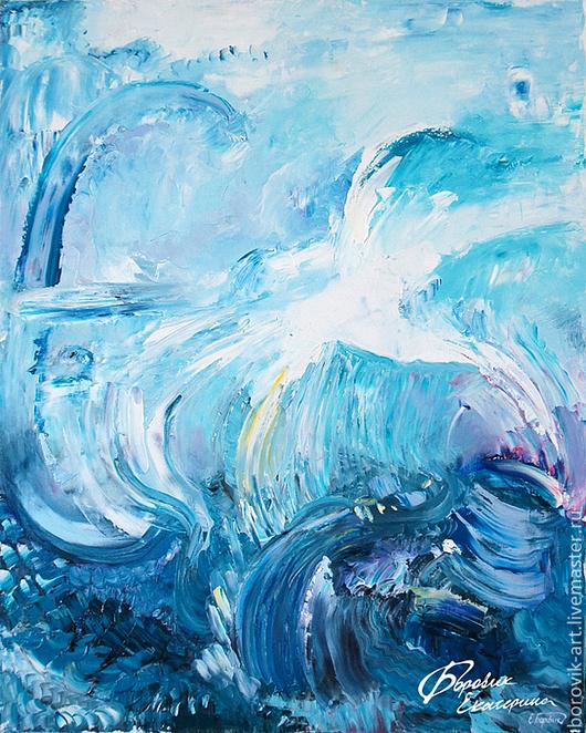 """Абстракция ручной работы. Ярмарка Мастеров - ручная работа. Купить Картина """"Среди Стихий"""". Handmade. Морская волна, картина для интерьера"""