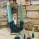 Модные оригинальные авторские украшения из камней колье ожерелье браслет серьги  купить в интернет магазине фото цена зеленого цвета камней