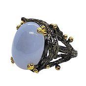 Украшения handmade. Livemaster - original item Large silver ring with chalcedony, size 19. Handmade.