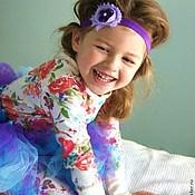 Работы для детей, ручной работы. Ярмарка Мастеров - ручная работа Повязка на голову  ФИАЛОЧКА  для девочки. Handmade.