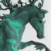 """Куклы и игрушки ручной работы. Ярмарка Мастеров - ручная работа фигурка """"дух летнего леса"""" (лесной конь; лошадь летнего леса). Handmade."""