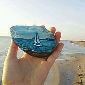 Магниты ручной работы. Ярмарка Мастеров - ручная работа Магнит из дрифтвуда парусник на море. Handmade.