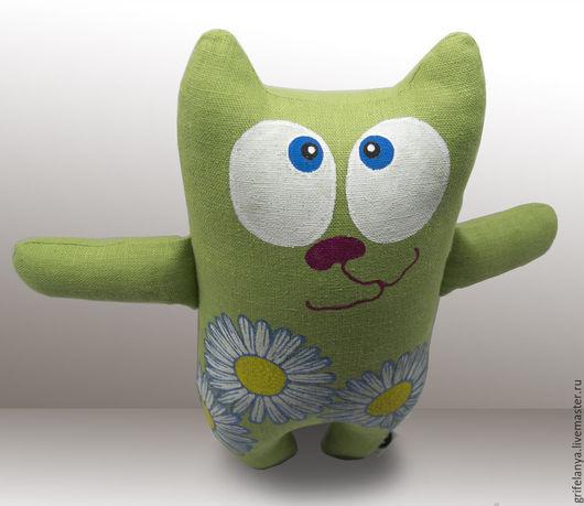 """Игрушки животные, ручной работы. Ярмарка Мастеров - ручная работа. Купить мягкая игрушка кот """"Ромашка"""". Handmade. Кот, синтепух"""
