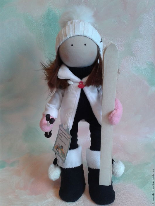 Коллекционные куклы ручной работы. Ярмарка Мастеров - ручная работа. Купить Кукла ручной работы Спортсменка. Handmade. Белый