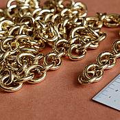 Материалы для творчества ручной работы. Ярмарка Мастеров - ручная работа Цепочка для сумки  - под золото крупная. Handmade.
