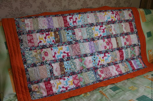 Пледы и одеяла ручной работы. Ярмарка Мастеров - ручная работа. Купить Детское лоскутное покрывало. Handmade. Покрывало пэчворк