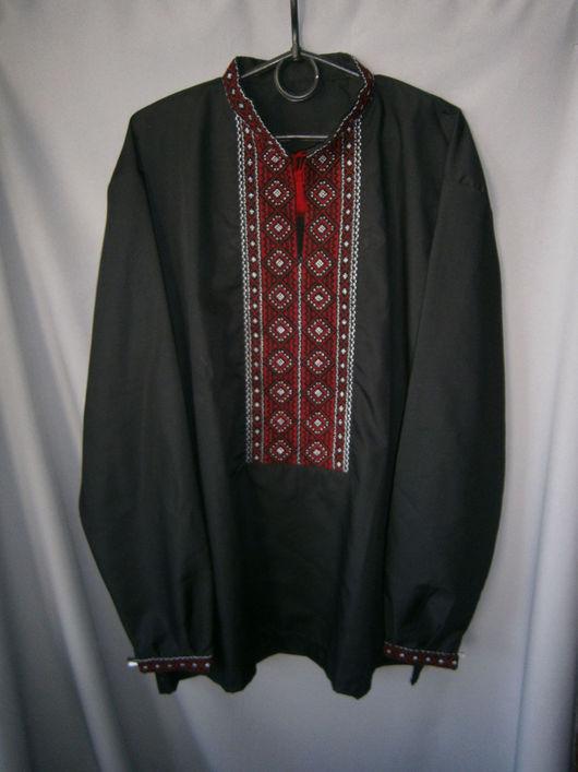 Для мужчин, ручной работы. Ярмарка Мастеров - ручная работа. Купить Рубаха-вышиванка из поплина Алатырь 54-56р.. Handmade.