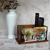 Для дома и интерьера handmade. Livemaster - original item Stand for remotes and mobile phones of Old Prague. Handmade.