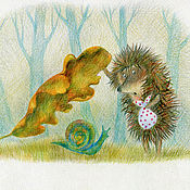 Картины и панно handmade. Livemaster - original item Set prints posters the Hedgehog 6 pieces. Handmade.